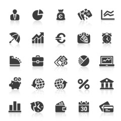 Black Web  Icons -  Business
