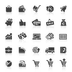 Black Web  Icons -  Shopping & Business