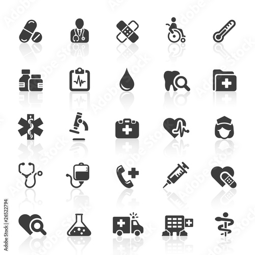 Black Web Icons - Medicine & Health