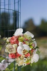 Bridal bouquet(focus on the flowers)