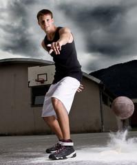 Young stylish basketball player