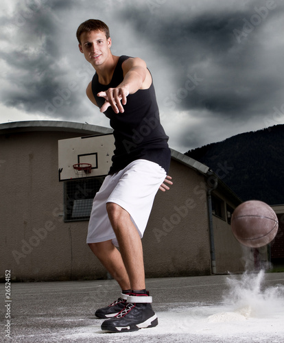 Young stylish basketball player