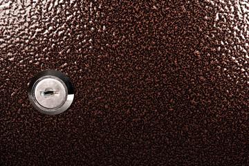 close up shot of a keyhole on locker