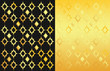 2 ornamental backgrounds, black and gold
