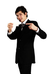 confident young salesman
