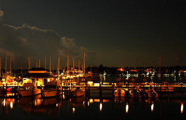Night at Naples Bay marina