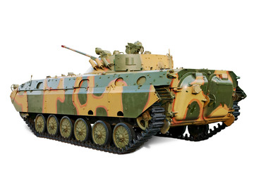 Armored Personnel Carrier. Clipping path included.