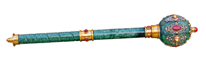 Scepter (mace) isolated, Clipping path included.