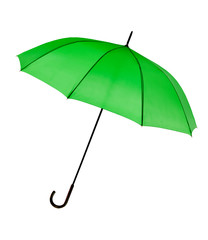 Green umbrella - isolated