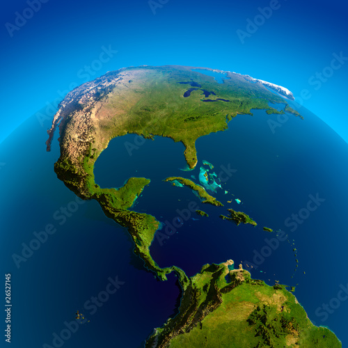 Caribbean, Pacific and Atlantic Oceans
