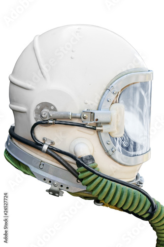 Astronaut/pilot helmet. Clipping path included.