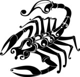 Astrology sign - scorpio. Vector zodiac poster