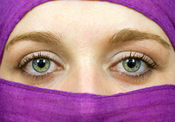Beautiful female eyes, Arabic style, studio picture