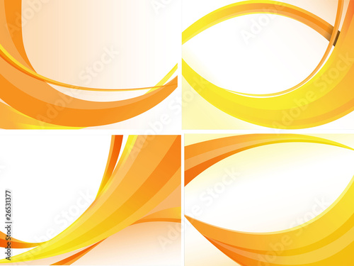 Yellow Abstract Background Set