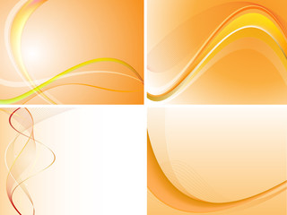 Orange Abstract Background Set