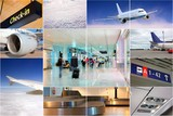 Fototapety Air transport collage