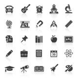 Black Web Icons - School & Education
