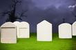 Graveyard at Halloween night