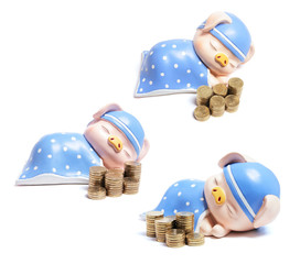 Piggybanks and Stacks of Coins