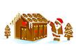 Weihnachtsmann mit Haus
