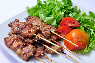 Asian grilled pork, Thai food