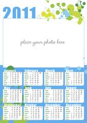 calendario con spazio per fotografia in inglese, 2011