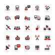 Red Black Web  Icons - Internet & Communication