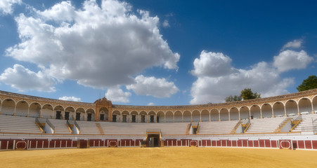 view of a bullfighting arena