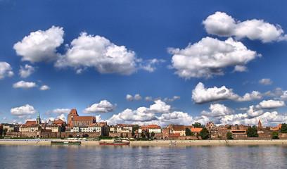 Panorama of Toruń (Poland)