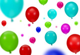 Background of color party balloons