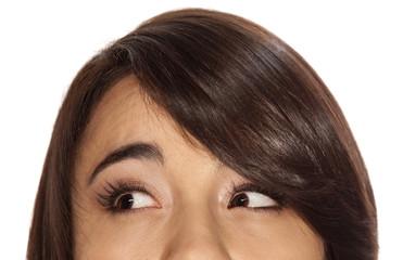 Upper half of face
