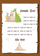 Fairy tale background, vector illustration