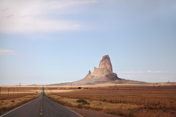 Monument Valley in the red desert
