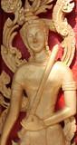 Buddhist art always seen on door of buddhist temple poster