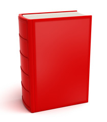Red book isolated on white . Clean cover