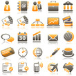 business Orange Icons