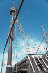 Stern of the replica of a Columbus's ship