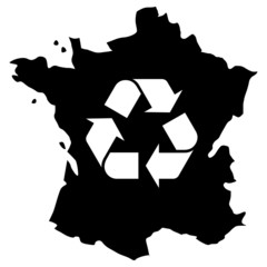 France recyclage noir simple