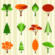 tree icon set