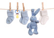 Baby goods hanging on the clothesline - 26555131