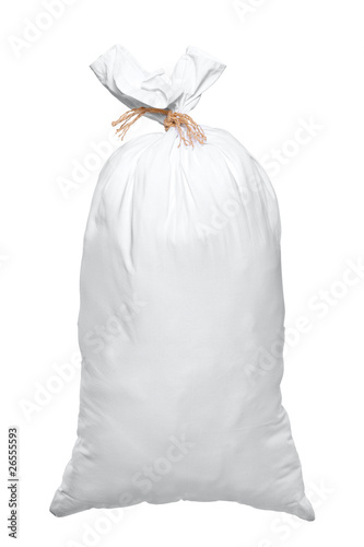 View of a full white bag