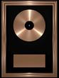 Bronze-Schallplatte