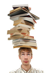 Balancing Stack of Books on Head