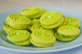 green butter cookies