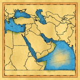 Middle East map poster