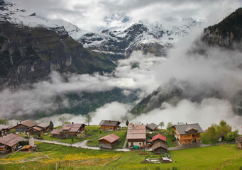 Gimmelwald Morning