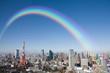 東京タワーにかかる虹