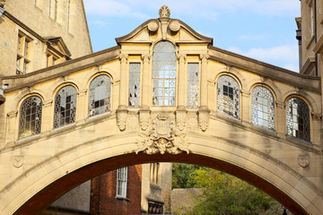 Bridge of Sighs at Hertford College, Oxford, England