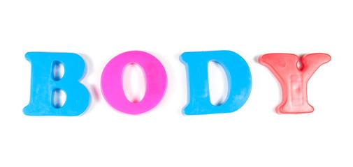 body written in fridge magnets