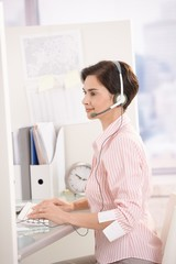 Customer service operator at work